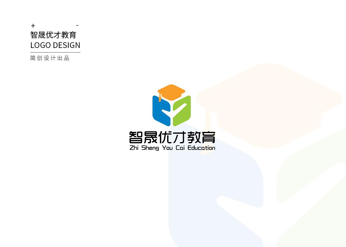 约稿信_简创设计教育培训行业书本对勾学位帽-CND设计网
