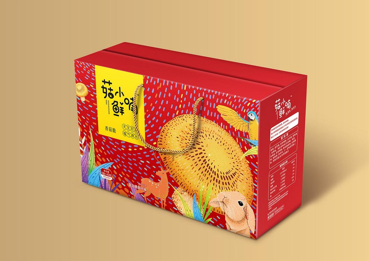 「菇小鲜喃 | 香菇脆片」系列包装设计
