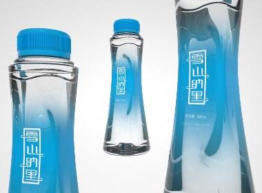 天然矿泉水瓶型包装设计