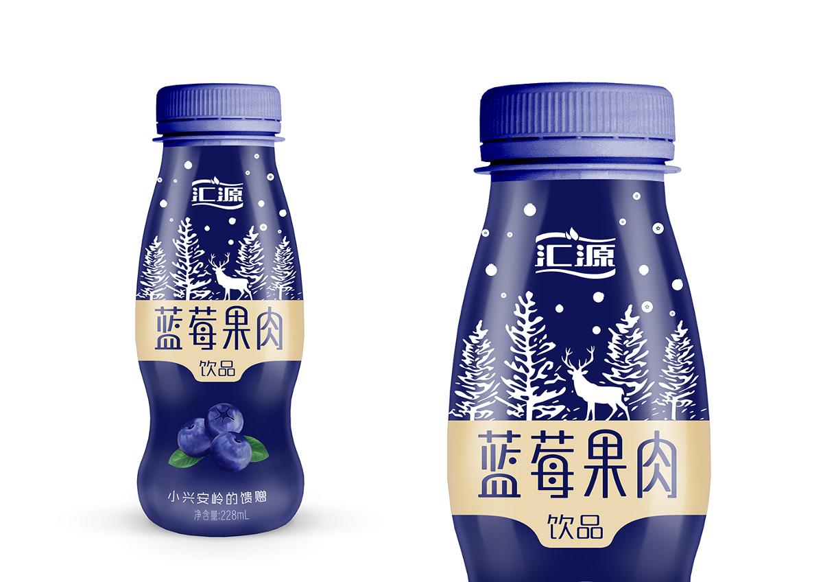 【汇源】----蓝莓果肉饮品包装