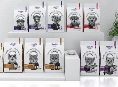 晨狮原创设计   丨   安贝(安诺品牌)猫粮狗粮系列包装设计