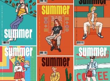 【矢量插画】夏天