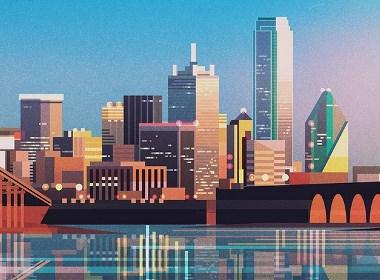 插画师手中的都市印象插画设计