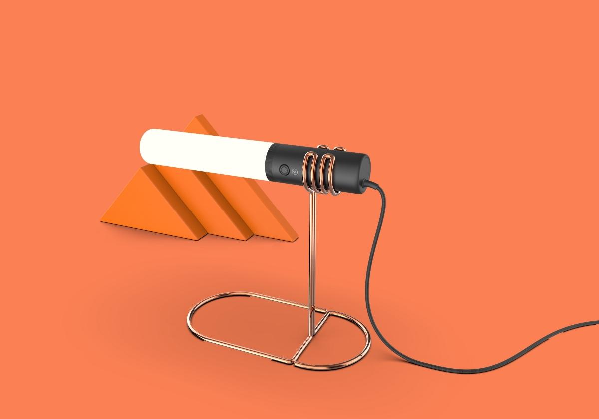 铁艺极简Led台灯灯具