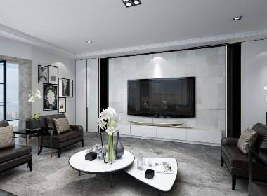 西安鲁班装饰-曲江紫汀苑260平米现代轻奢风格装修设计