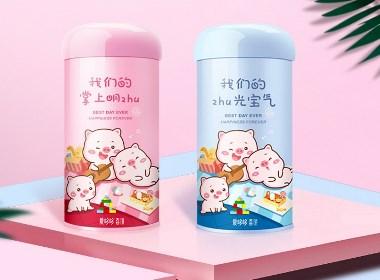愛哆哆誕生禮包裝設計平面設計喜禮豬寶寶伴手禮鐵罐