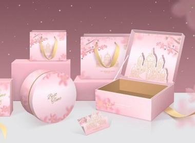 婚禮伴手禮包裝設計平面設計夢幻城堡清新漢風私人定制