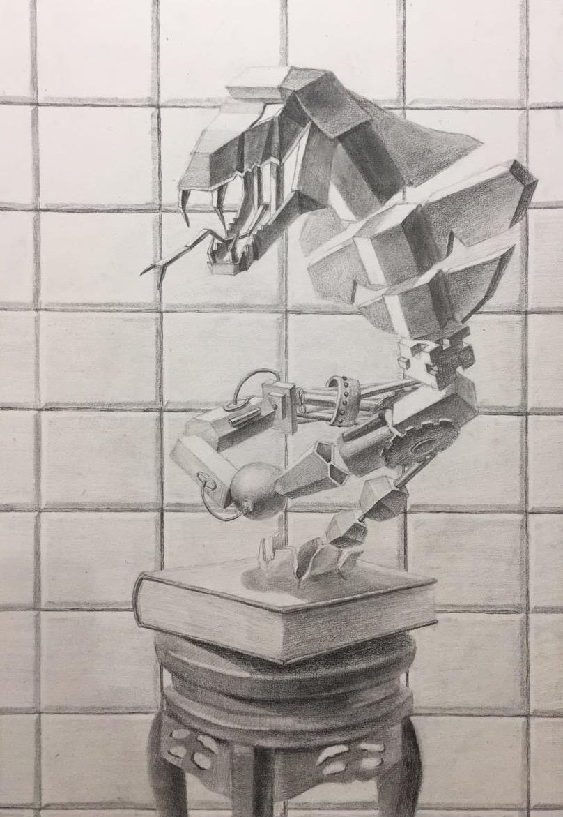 创意素描 - 几何蛇