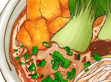 鴨血粉絲湯插畫繪制及包裝設計