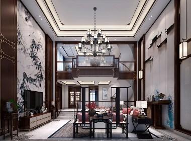 清镇时光贵州别墅设计作品|中式轻奢风格