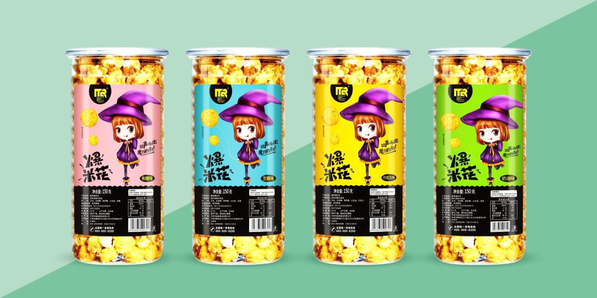 名仁爆米花   产品包装设计 · 品牌视觉形象设计·品牌IP形象设计