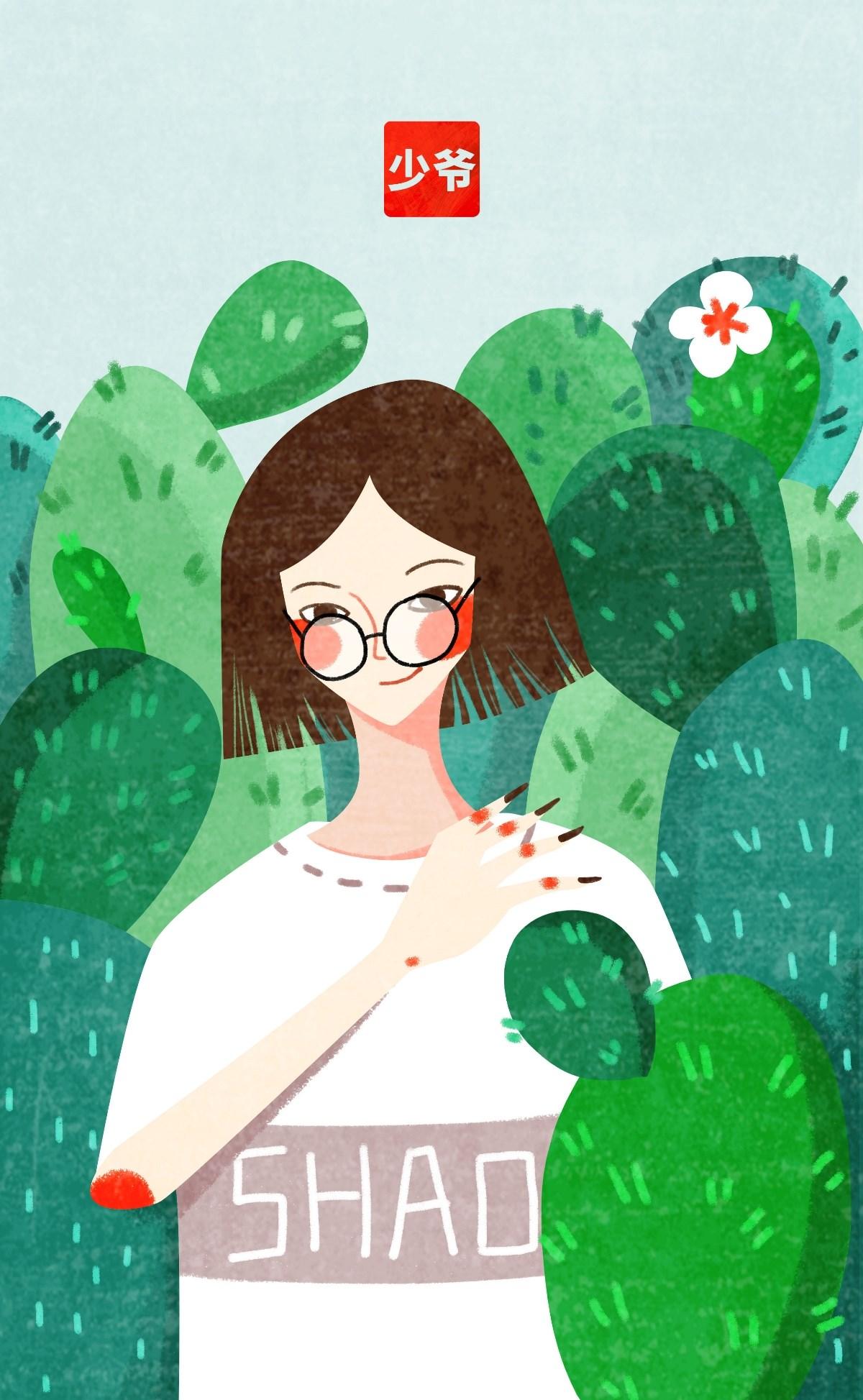 日常插画练习-一组女性题材