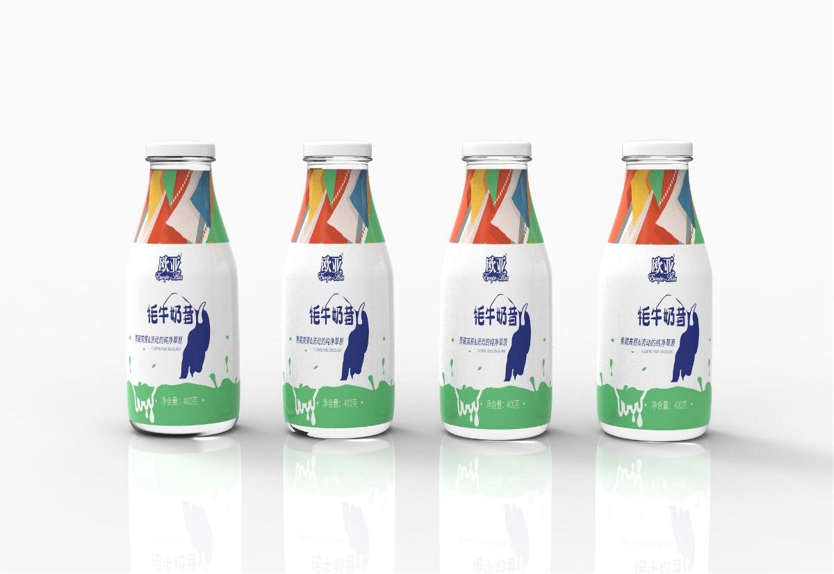酸奶瓶包装设计