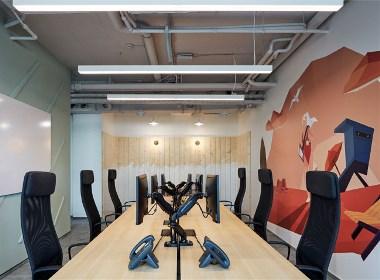 雄安某计算机公司 前卫自由的办公空间 - 筑品天工作品