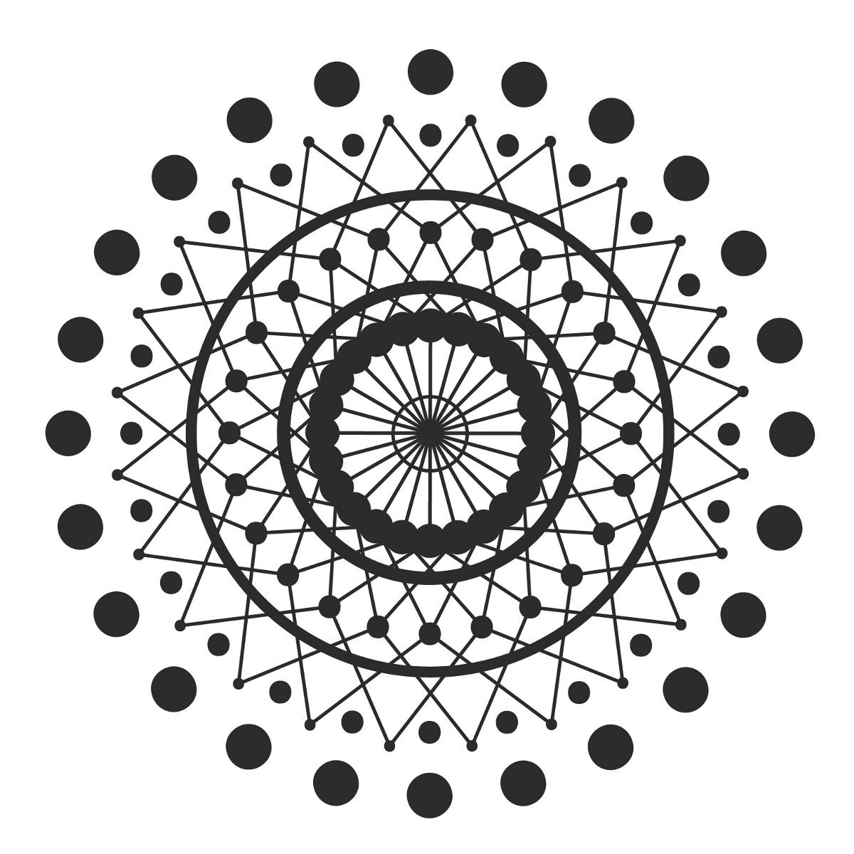 曼陀罗图案+瑜伽裤图样