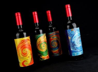 """智利进口红酒品牌""""炫彩""""新品品牌包装设计 以货架思维为前提,让产品抓住消费者眼球!"""