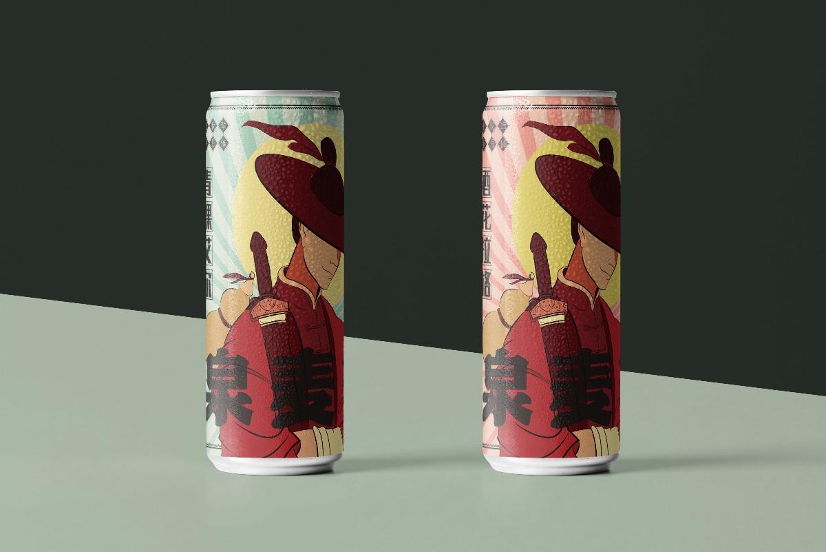 """""""笑傲浆壶""""啤酒系列包装设计 贰"""
