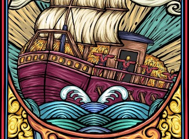 东来也原创插画之-草船借箭