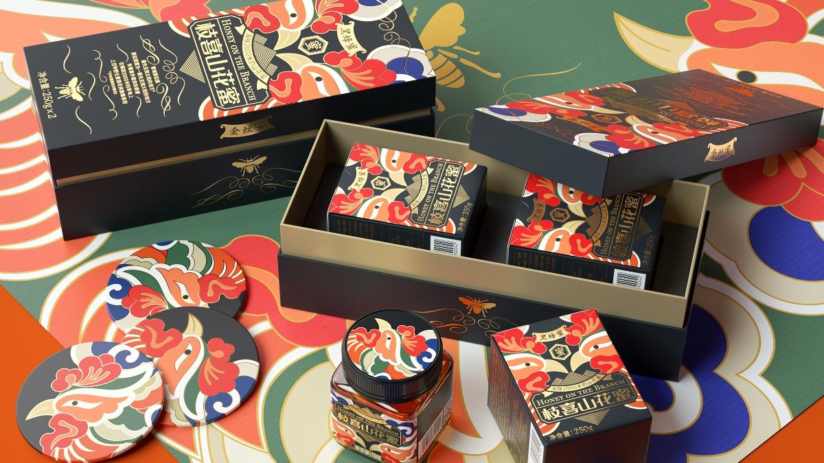 喜鵲包裝設計實驗室 X 絕美蜂蜜包裝,再現東方美學盛宴!