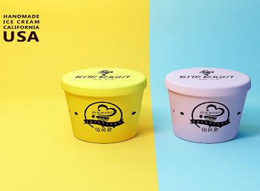 冰淇淋包装设计 冰淇LOGO设计 冰淇海报设计