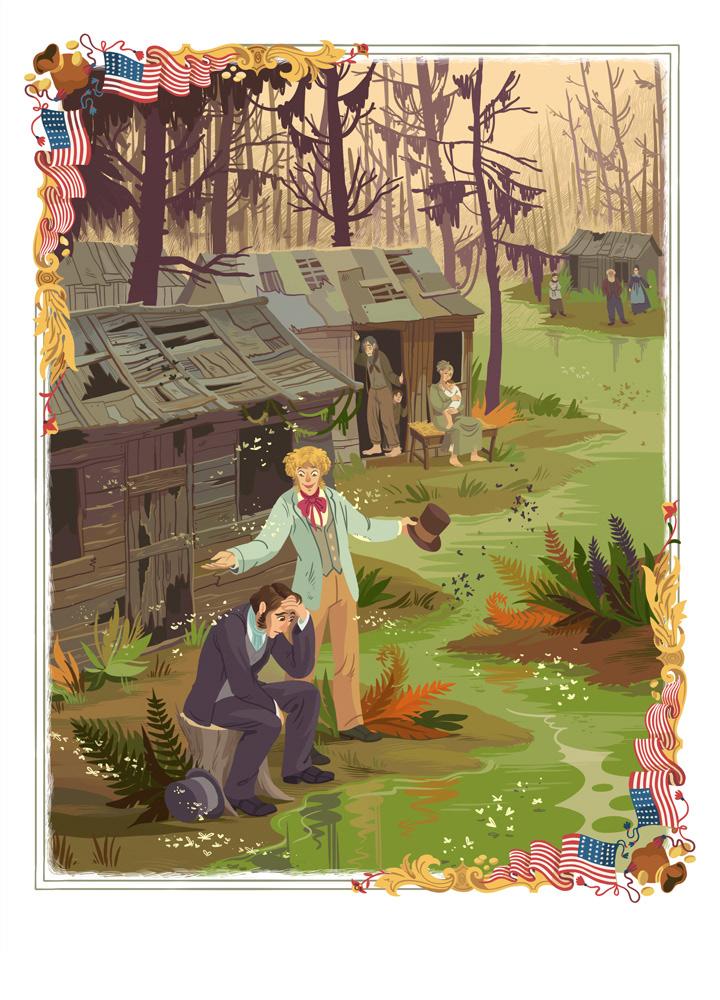 狄更斯作品书籍配图插画设计