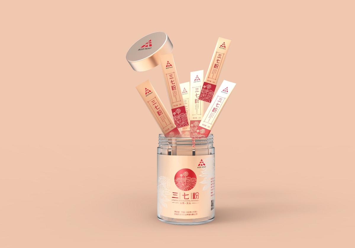 天士力三七粉系列化包装设计