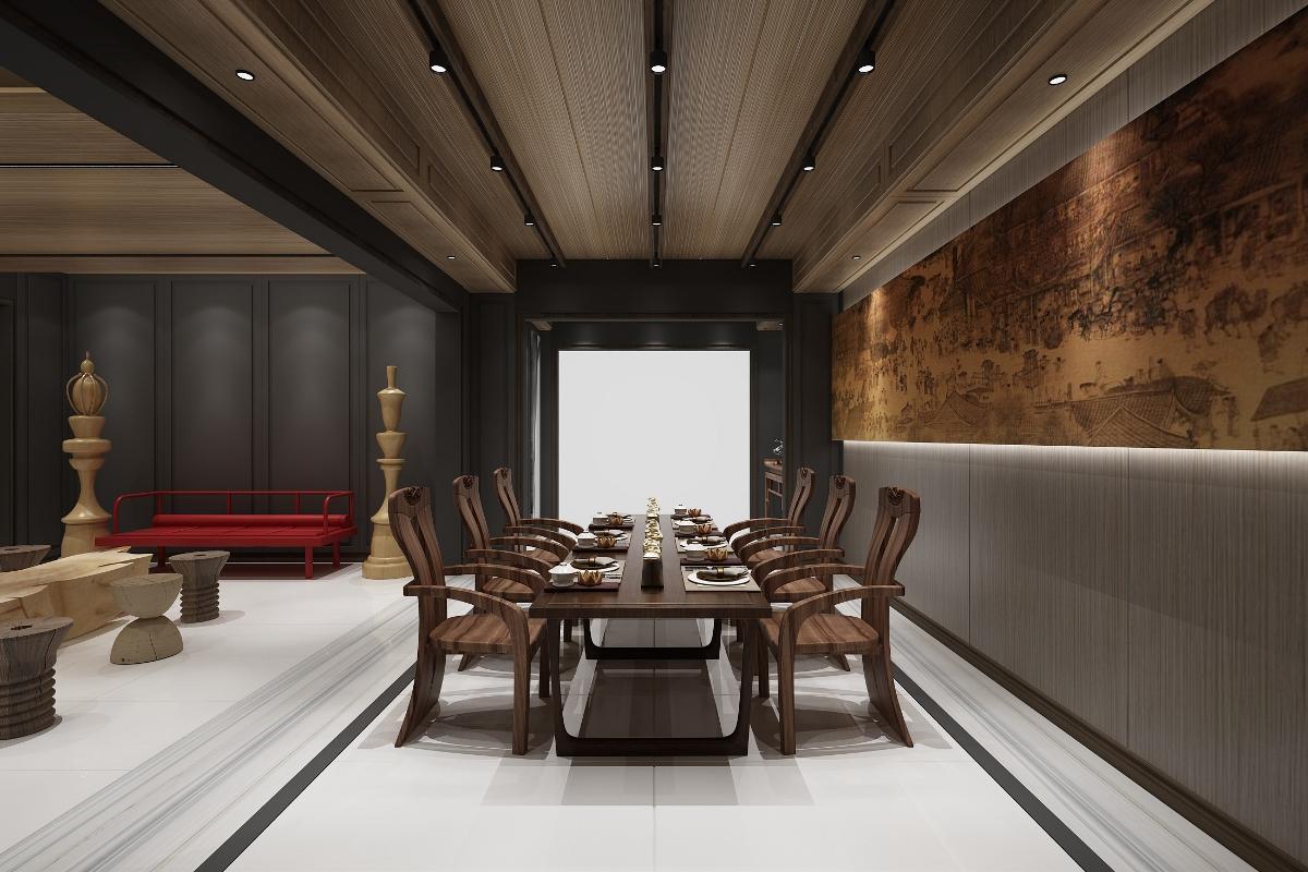 中式风,艺术感太强烈了|贵阳别墅装修公司清镇时光贵州私宅作品