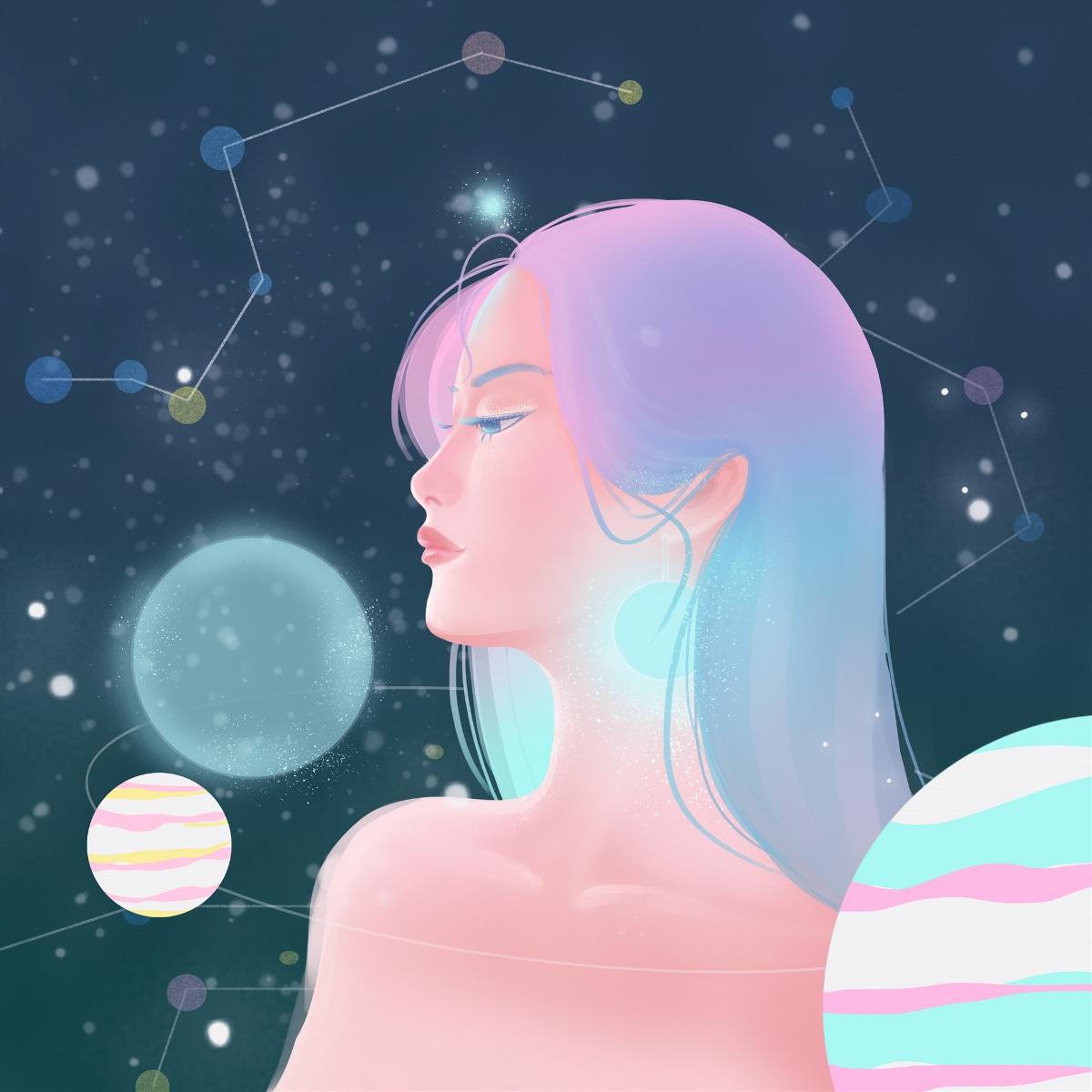 原创《星空》系列插画作品