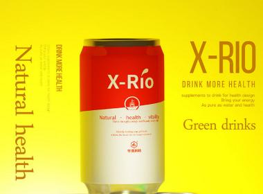 xio兹补品 - 易拉罐饮料包装设计