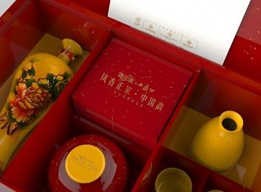 徐了二正×國花瓷西鳳酒丨伴手禮包裝