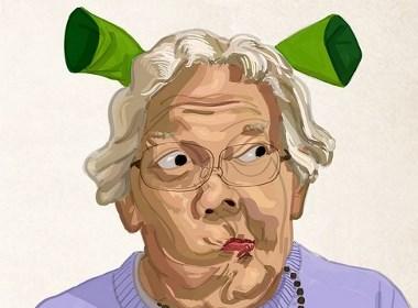 戏谑奶奶和夏季