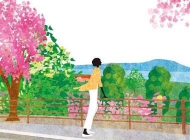 水彩画:日本的这些风景,让人心驰神往~~~