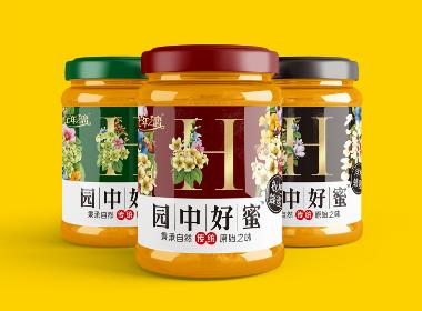 园中好蜜品牌视觉符号蜂蜜包装设计
