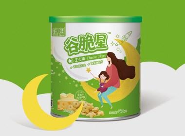 西安四喜品牌设计-妈宝时光谷脆星包装设计