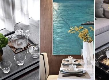 清雅温润 、 星河山海湾洋房样板间   点石亚洲设计-欧模网