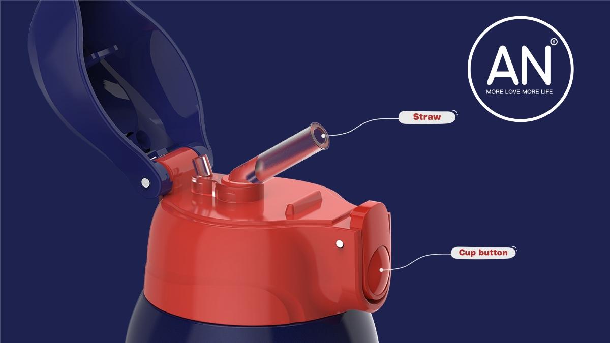 AN保温杯工业渲染 产品设计