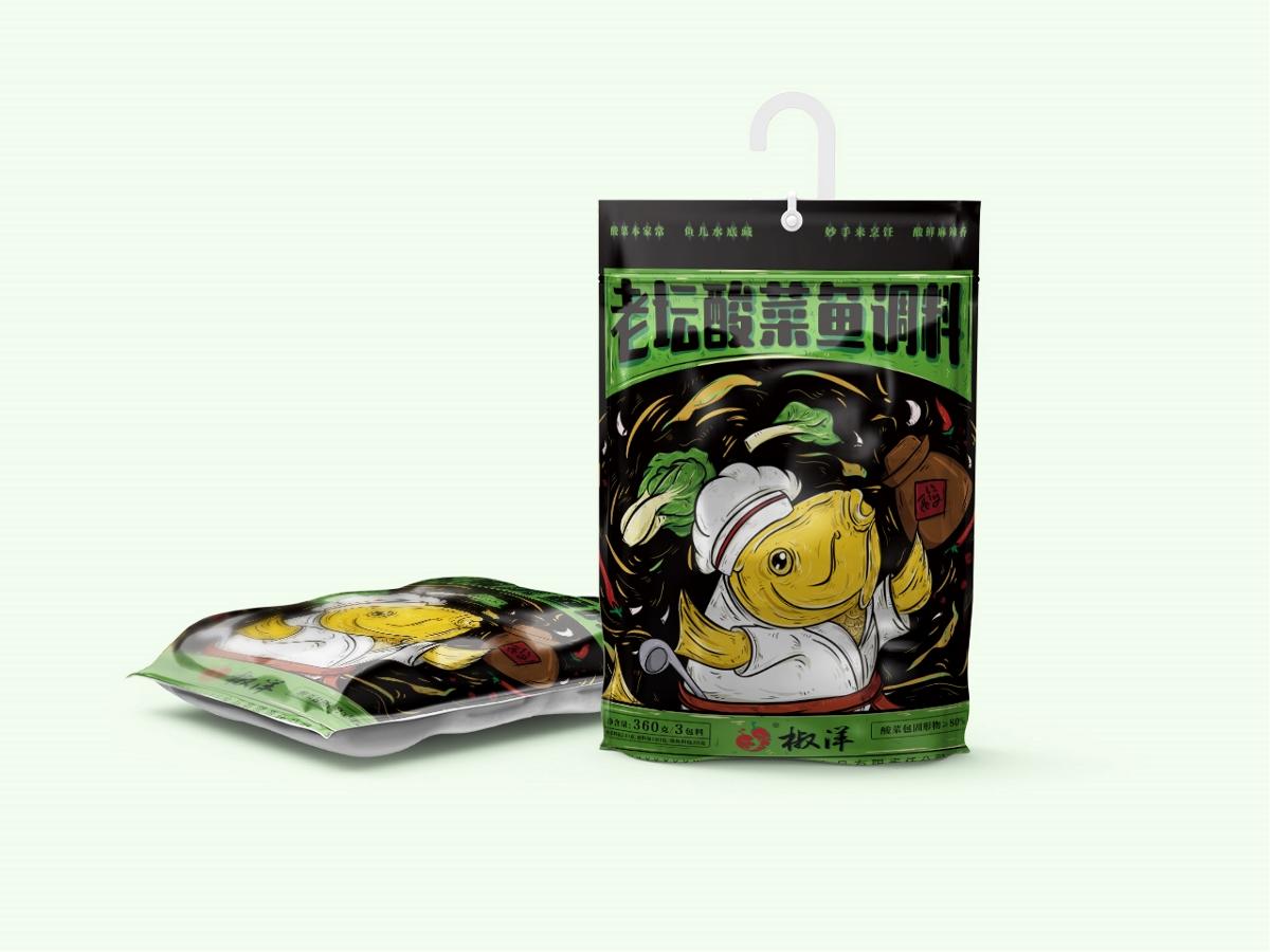 老坛酸菜鱼调料包装设计