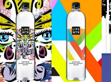 LIFE WTR 艺术型瓶贴纯净水包装设计