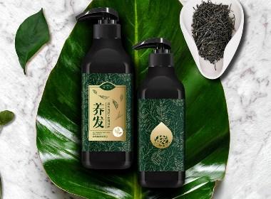 鶴頂山茶氧洗發護發茶粉品牌包裝設計