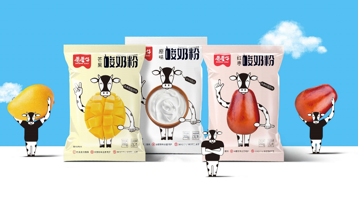 蘑蘑牛——酸奶粉包装设计