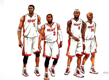马克笔篮球四巨头