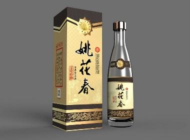 姚花春白酒92年金奖设计