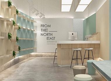 堿原圣地玉米包裝設計,店面空間設計by-毒柚