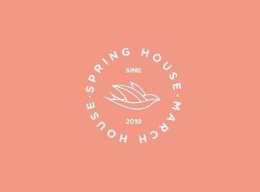 三月民宿标志设计