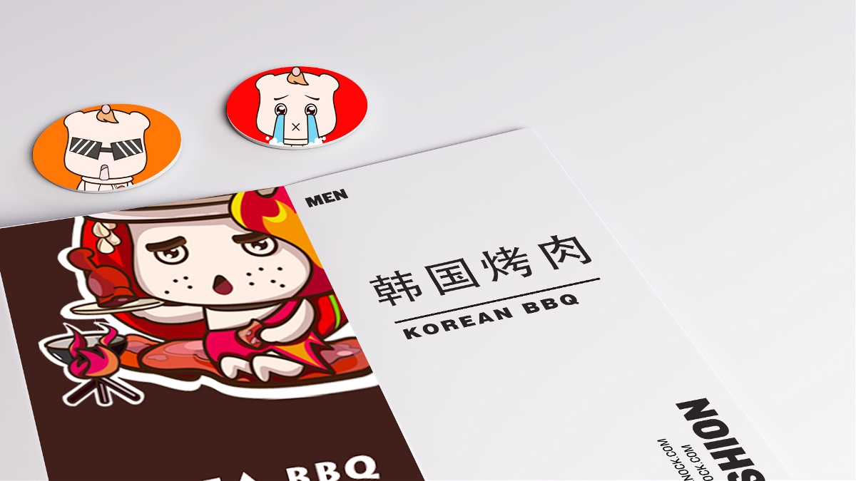 韩国料理IP吉祥物设计