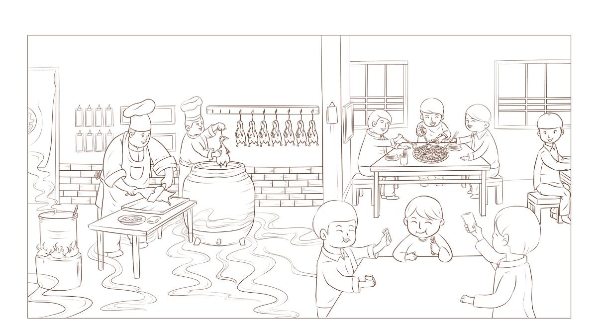 --烤鸭插画--