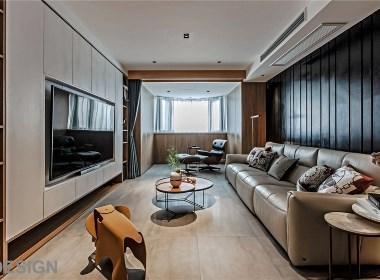 去繁求简,木质+石材打造低调简约却又不失质感台式风格居家住宅