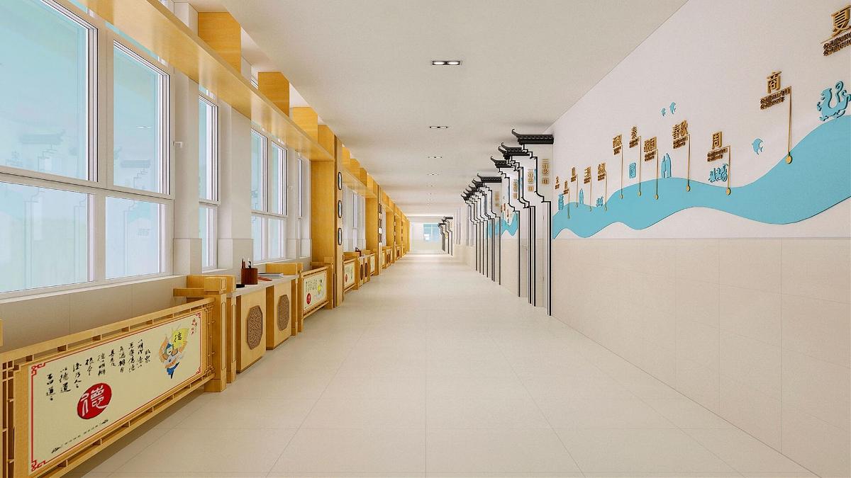 济南望岳路小学-国学实践课堂空间设计-山东太歌装饰设计工程