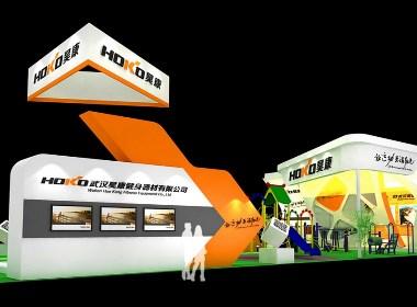 昊康健身器材体育展厅展位设计-太歌创意