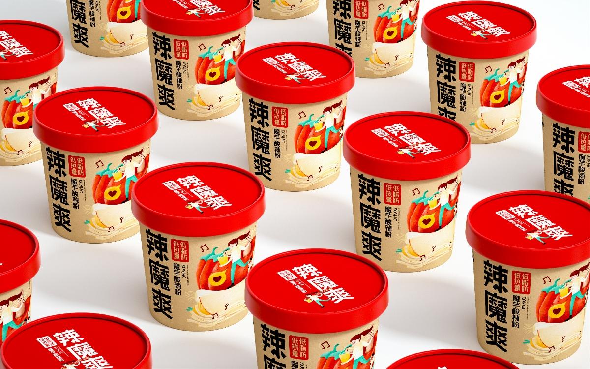 酸辣粉包装 桶面 零食 泡面 魔芋粉
